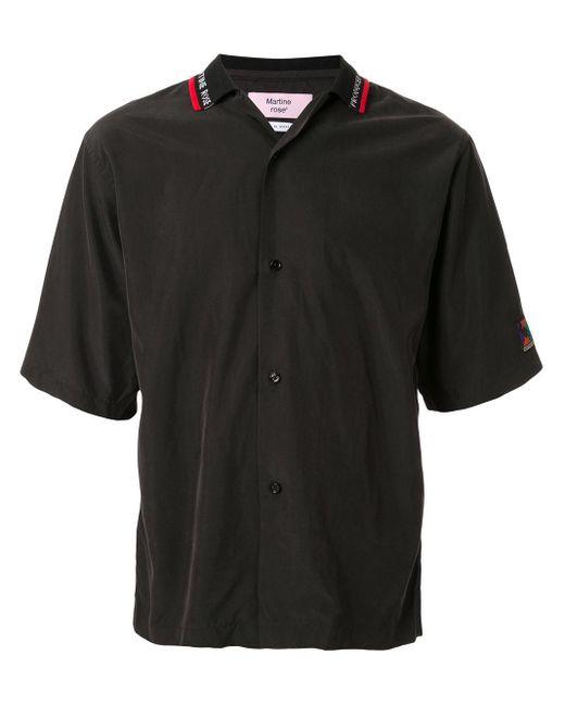 メンズ Martine Rose テックボウリングシャツ Black