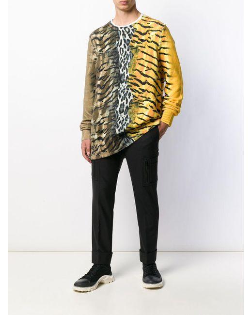 メンズ Neil Barrett サファリプリント プルオーバー Yellow