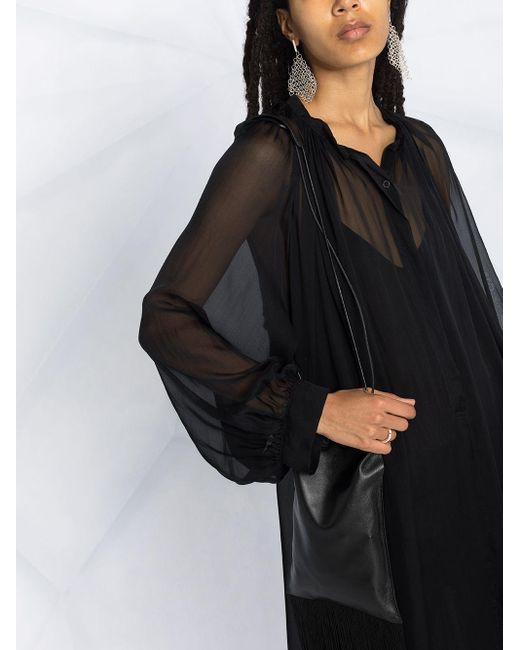Платье Макси С Объемными Рукавами Ann Demeulemeester, цвет: Black