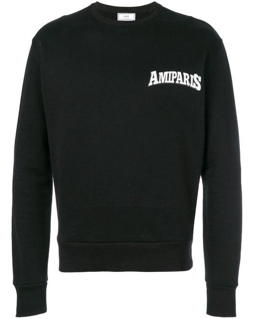 メンズ AMI クルーネック スウェットシャツ Black
