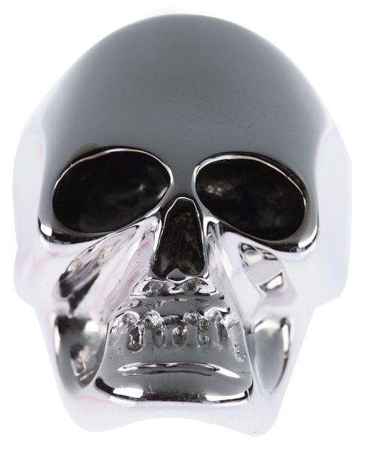 Gavello Metallic Gold Skull Ring for men