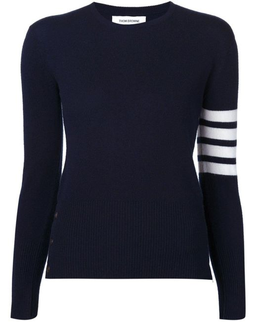Thom Browne ストライプスリーブ セーター Blue
