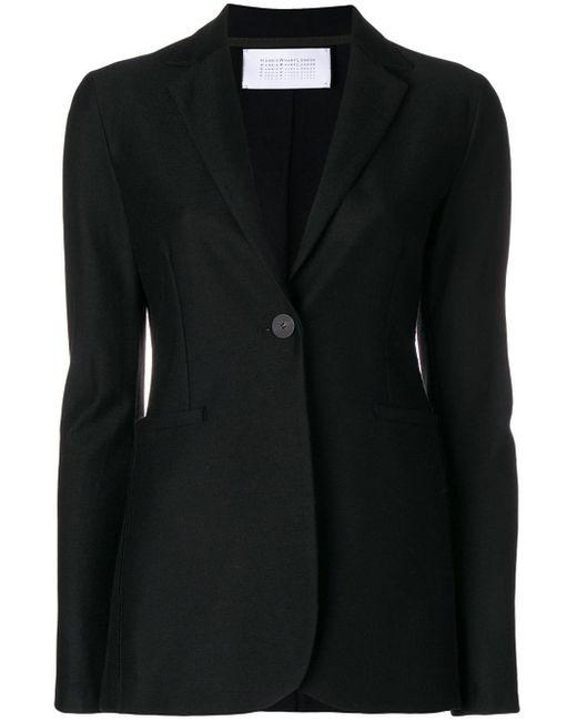 Harris Wharf London Black Single Button Blazer