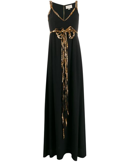 Abiti Da Sera Gucci.Gucci Synthetic Sequin Detail Evening Dress In Black Lyst