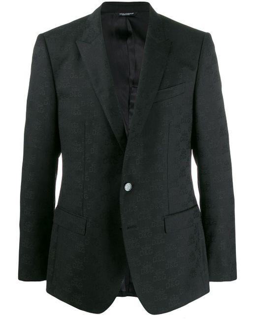 メンズ Dolce & Gabbana ロゴ インターシャジャケット Black