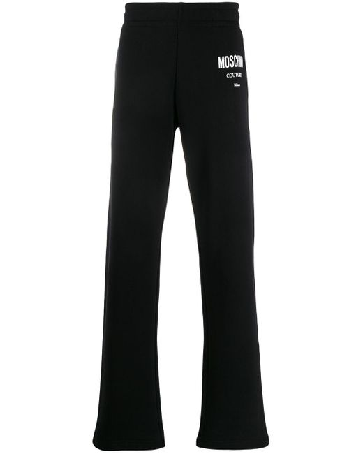 メンズ Moschino ロゴ トラックパンツ Black