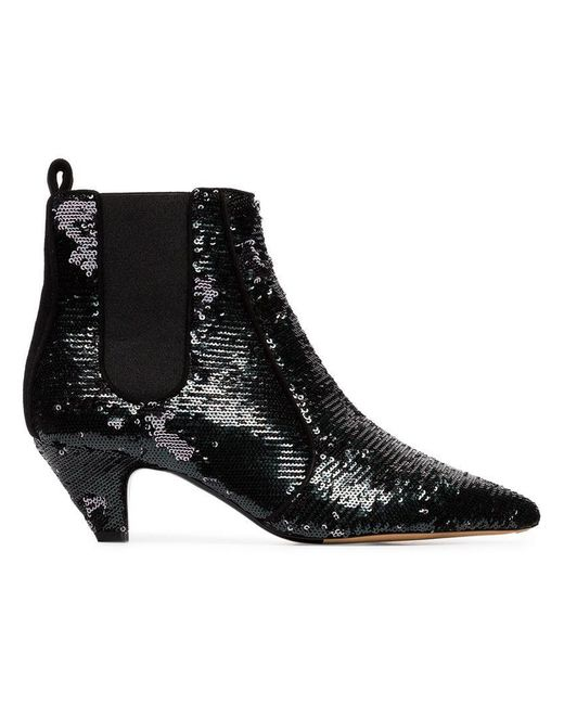 Tabitha Simmons - Black Effie 50 Sequin Ankle Boots - Lyst