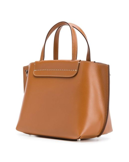 Tod's ロゴ ハンドバッグ Brown
