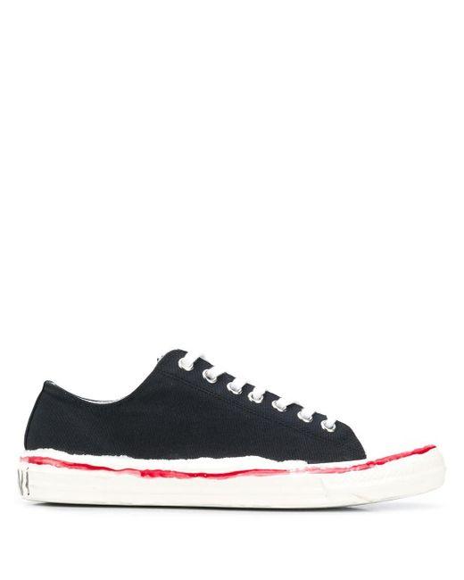Marni Black Distressed Sneakers for men