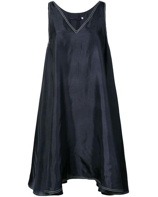 Harvey Faircloth - Blue Asymmetric Seam Dress - Lyst