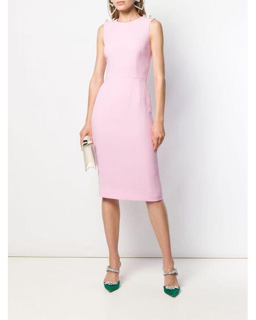 Dolce & Gabbana スパンコール ミディドレス Pink