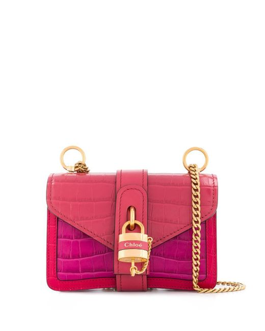 Chloé Aby チェーン ショルダーバッグ Pink