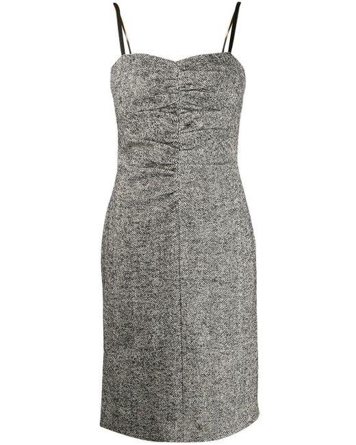 N°21 ヘリンボーン ドレス Black