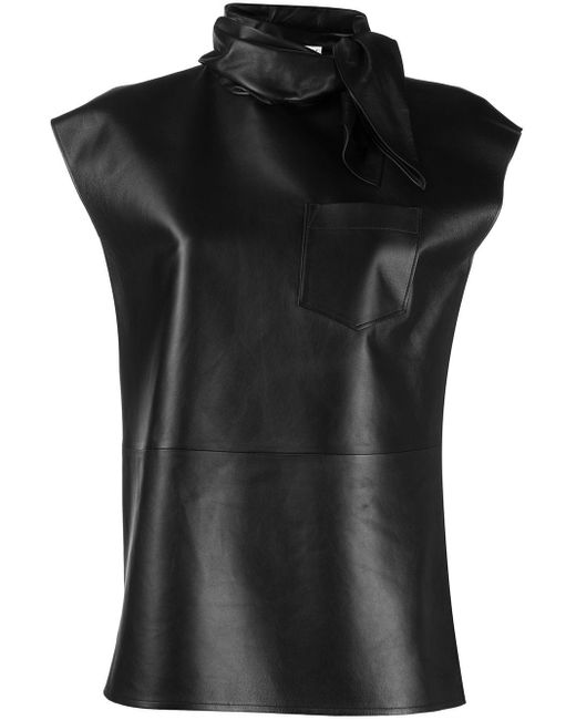 Givenchy Neckerchief Effect Sleeveless Top Black