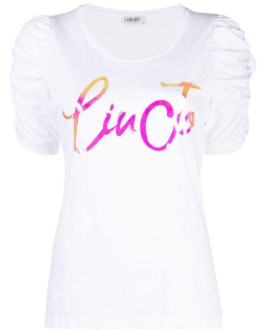Liu Jo ロゴ Tシャツ White