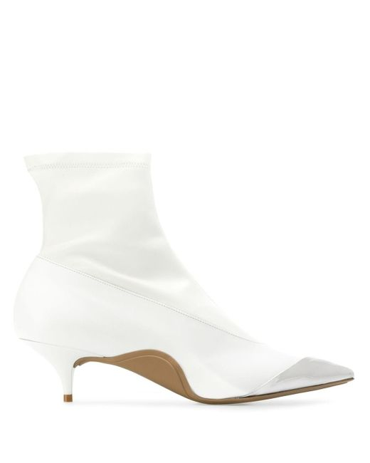 N°21 White Toe Cap Ankle Boots