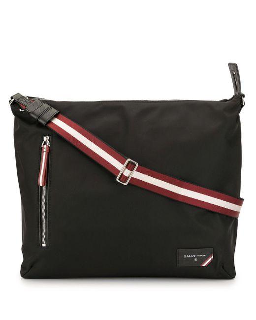 Bally Black Stripe Detail Cross Body Bag for men