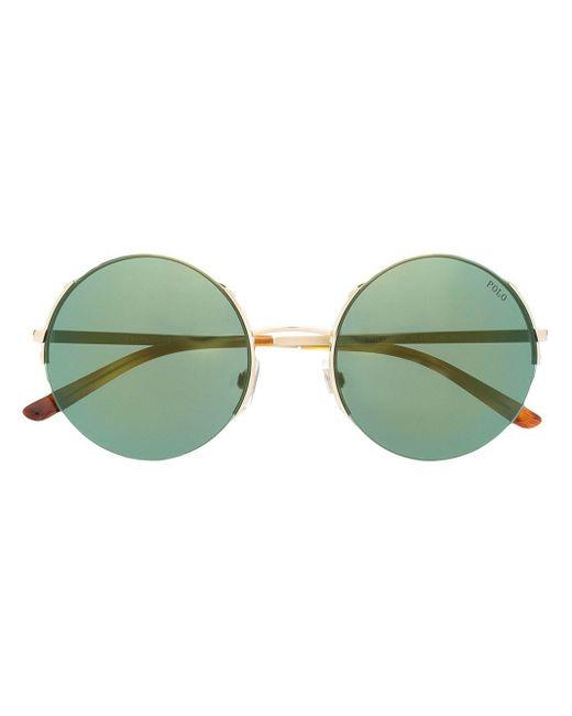 Occhiali da sole tondi di Polo Ralph Lauren in Metallic
