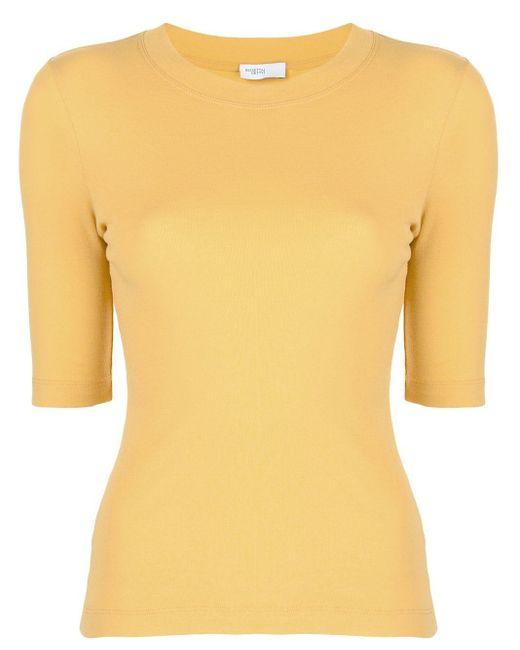 Rosetta Getty クロップドスリーブ Tシャツ Yellow