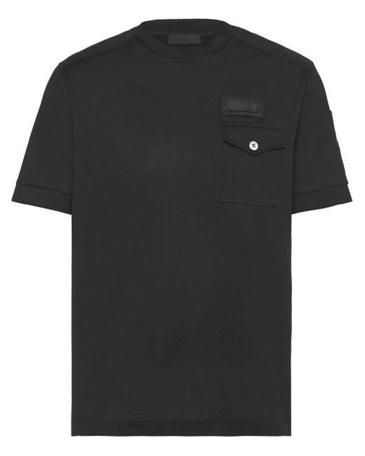 メンズ Prada チェストポケット Tシャツ Black