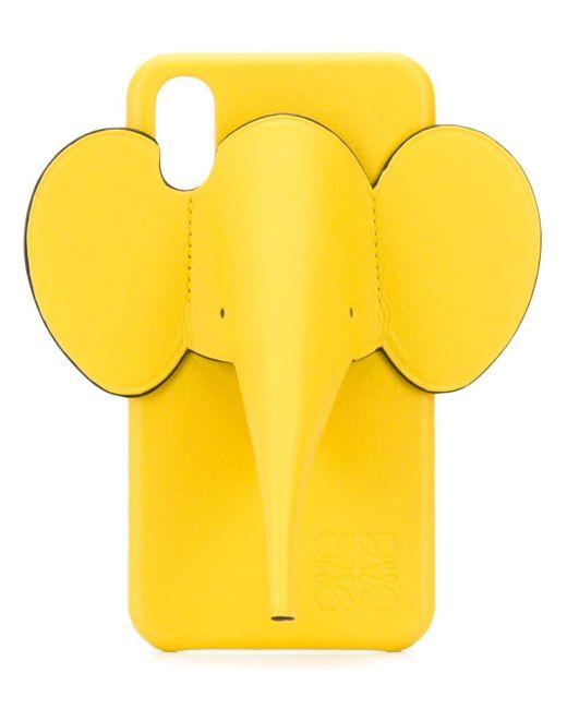 Чехол Elephant Для Iphone X/xs Loewe, цвет: Yellow