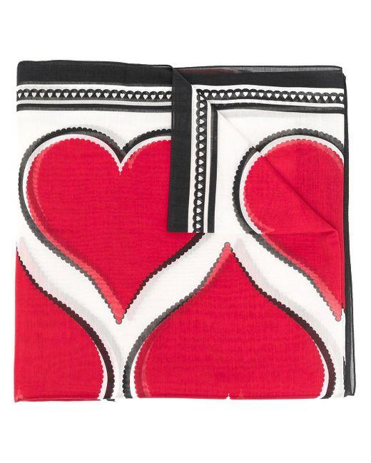 Alexander McQueen ハート スカーフ Red