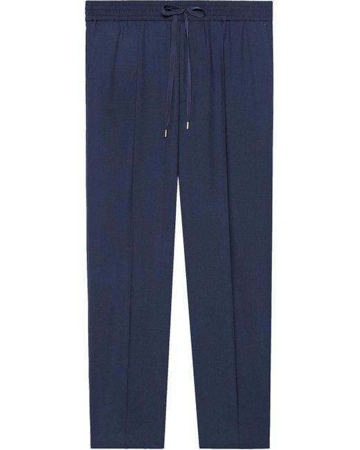 メンズ Gucci テーラード ジョギングパンツ Blue