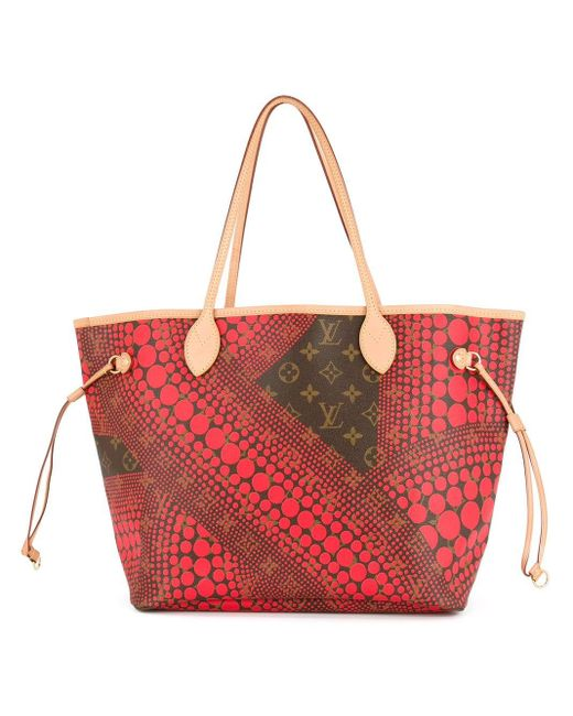 Сумка 'neverfull Mm' Pre-owned Louis Vuitton, цвет: Red
