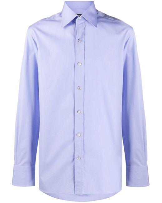 メンズ Tom Ford ポインテッドカラー シャツ Blue