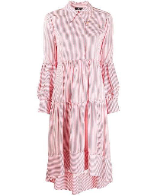 Elisabetta Franchi Robe-chemise à rayures femme de coloris rose SOgEe