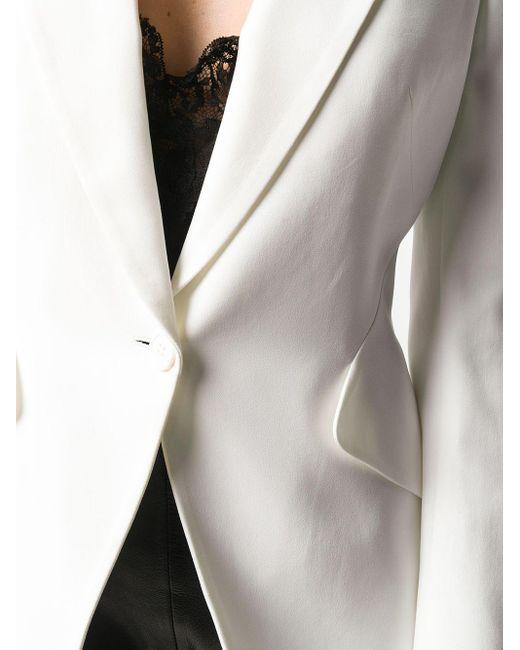 Alexander McQueen パワーショルダー ジャケット White