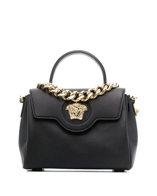 Versace メデューサ ハンドバッグ Black