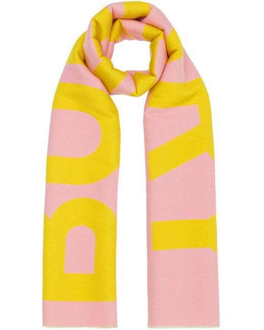 Burberry ジャカードニット ロゴ マフラー Pink