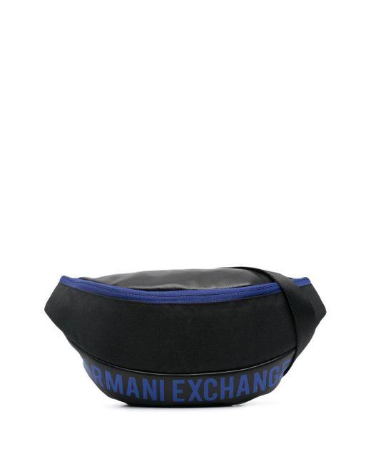 メンズ Armani Exchange ロゴ ベルトバッグ Black