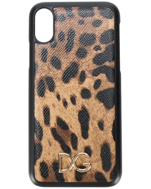Dolce & Gabbana レオパード Iphone X ケース Brown