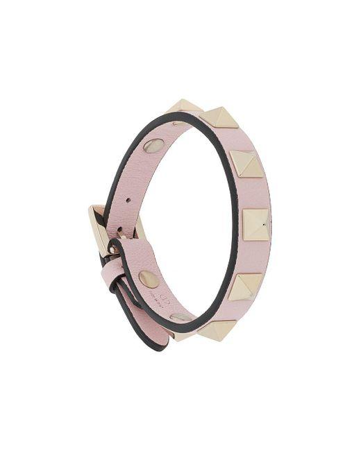 Браслет Rockstud С Пряжкой Valentino Garavani, цвет: Pink
