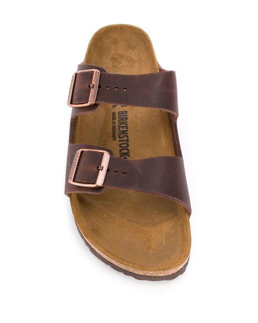 Сандалии Arizona Birkenstock для него, цвет: Brown