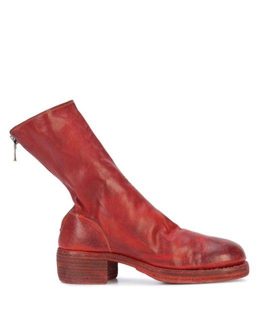 Guidi ミッドカーフブーツ Red
