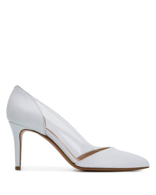f6a7f909fd4 Albano - White Clear Panel Pumps - Lyst ...