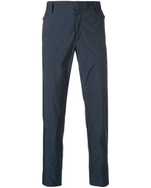 メンズ Prada テクスチャード テーラードパンツ Blue