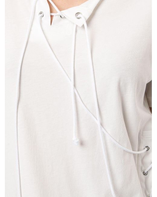 Yohji Yamamoto ストリングディテール Tシャツ White