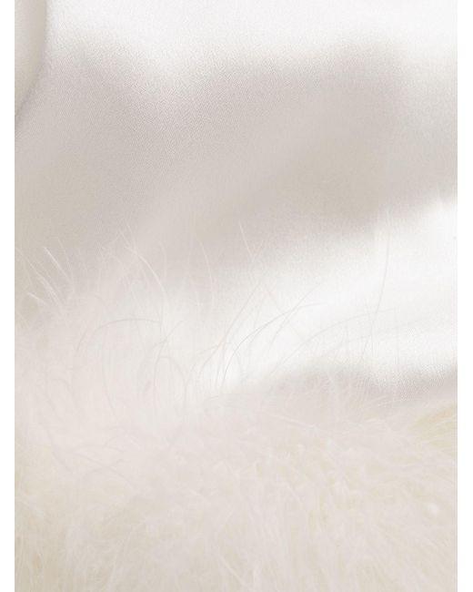Gilda & Pearl Pillow Talk サテンローブ White