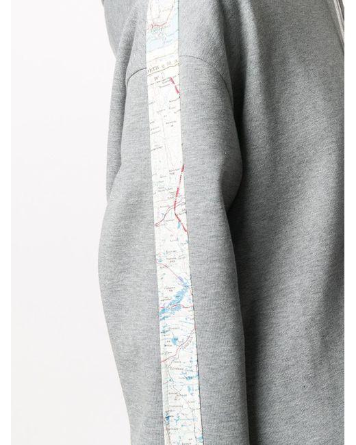 Raeburn 1950s Silk Map ニットパーカー Gray