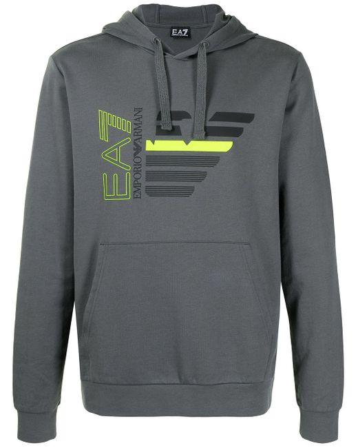 Худи С Логотипом EA7 для него, цвет: Gray