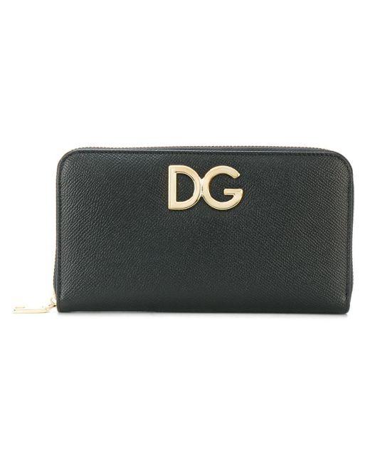 Dolce & Gabbana ファスナー長財布 Black