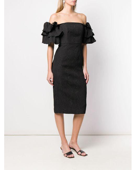 AlexaChung パフスリーブ ドレス Black