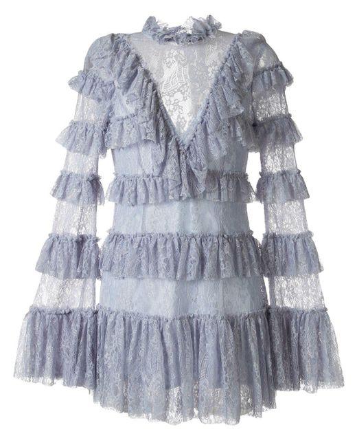 Alice McCALL Vestido Chantilly de mujer de color azul