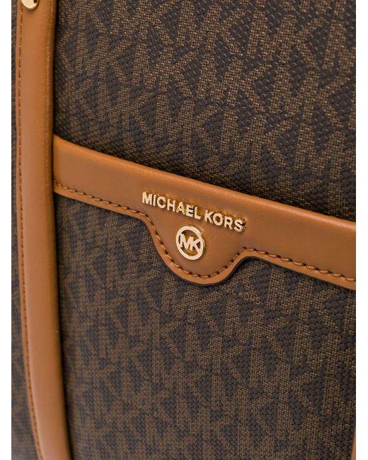 MICHAEL Michael Kors Voyager モノグラム ハンドバッグ Brown