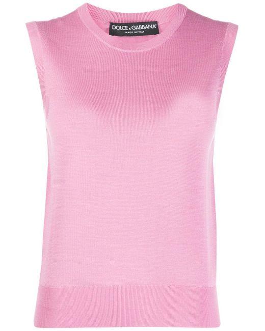 Dolce & Gabbana ノースリーブ ニットトップ Pink