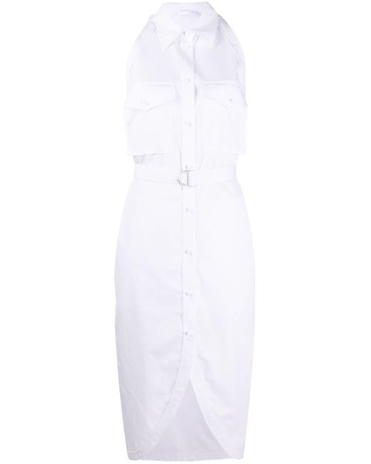 Helmut Lang ベルテッド シャツドレス White